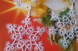 Śnieżynki gwiazdka frywolitka - wzór D