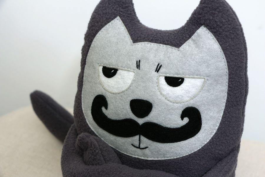 Pluszowa zabawka przytulanka Kot Wąsacz