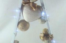 Drewniana choinka w stylu skandynawskim Led