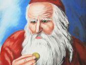 Żyd liczący pieniądze II  pastela