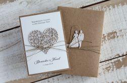 Stylowa kartka ślubna handmade