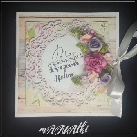 Karnet urodzinowy...imieninowy...Kwiaty