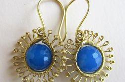 Kolczyki z błękitnym onyksem