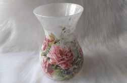 lampion-wazon szklany w róże dla nauczyciela