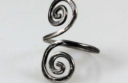 Zawijasy - srebrny pierścionek 2109-20