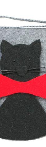 Torebka z kotkiem z kokardą
