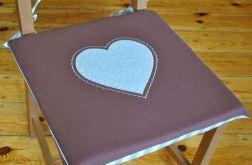 4 siedziska na krzesła - Beżowe serca