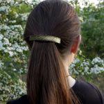 Pajęczyna - mosiężna klamra do włosów 210426-01 - Biżuteria do włosów