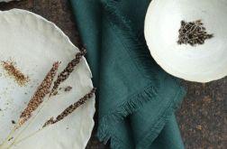 Serweta lniana z nutą zielonej skórki cukinii