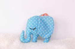 Słonik przytulanka, niebieski słoń