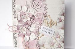 Kartka ślubna różowa 81016