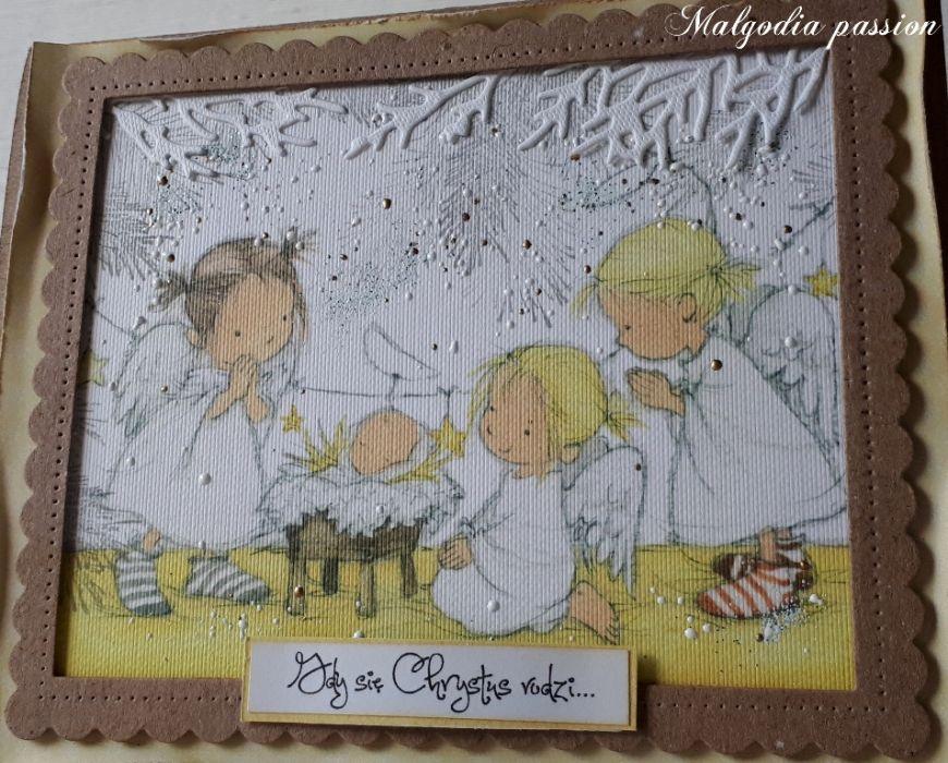 Kartka z szopką na Boże Narodzenie