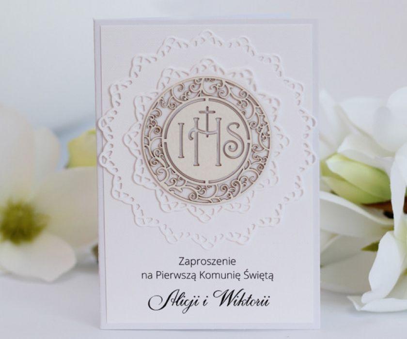 Zaproszenia Komunijne Handmade Papieroffka