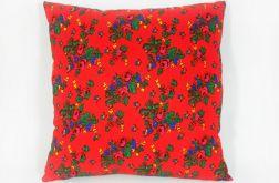 Góralska czerwona - poduszka ozdobna