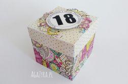 Pudełko urodziny exploding box Witraże