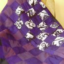 narzuta patchwork fioletowo biało czarna