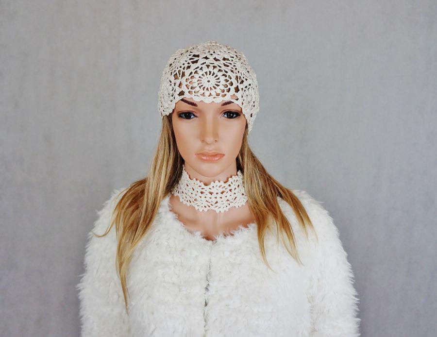 Czapka Lady eL 02 - czapka ażurowa