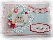Kolorowa kartka z guzikami