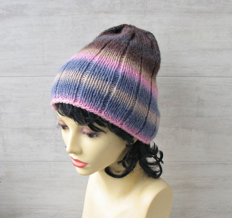 Lekka zimowa czapka zimowa kolorowa. - czapka zimowa