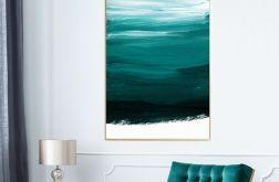 Obraz na płótnie abstrakcja zielona 70x100 cm