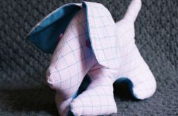 piesek a`la terier różowo-niebieski