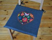 Poduszki na krzesła,siedziska -z filcu 4szt Łowicz