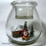 Świecznik z widokiem w środku(Mikołaj) -