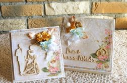 Ażurowa suknia - koplet ślubny