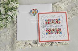 Ślubna kartka w kopercie 108