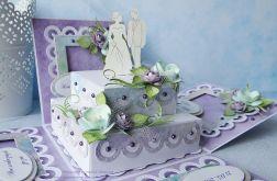 Pudełko ślubne z tortem 1
