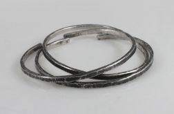 Komplet 3 srebrnych bransoletek 190811-08
