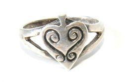 50 pierścionek vintage, srebrny, oryginalny,