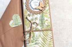 kartka ślubna :: leśne życzenia :: slim