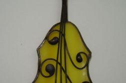 Skrzypce Broszka witrazowa Tiffany muzyka