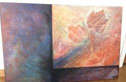 Obraz abstrakcja jesień 90x60