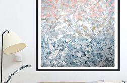 Obraz malowany farbami akrylowymi 100x100