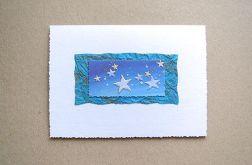 kartka świąteczna-gwiazdki