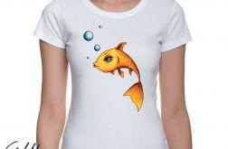 Złota rybka - t-shirt damski - kolory