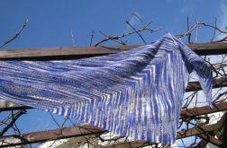 chusta wełniana intensywny błękit