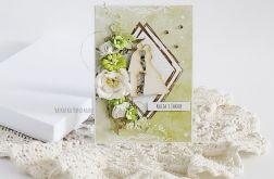 Kartka ślubna w pudełku, 445