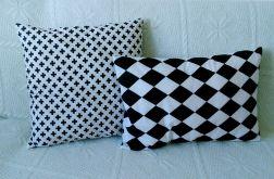 Poduszka bawełna 100% czarne romby