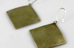 Kwadraty - mosiężne kolczyki 140222-01