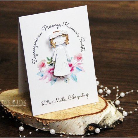 Zaproszenie dla Matki Chrzestnej-dziewczynka