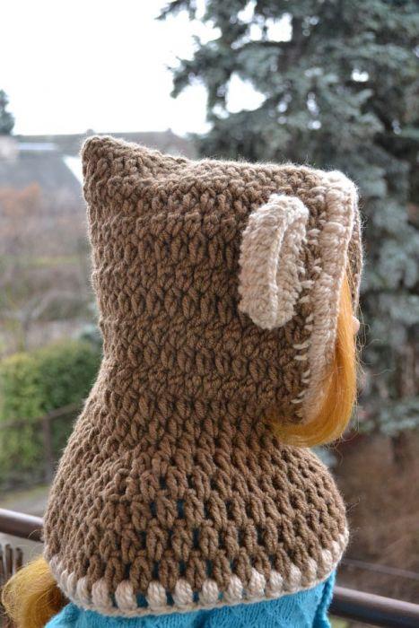Słodki beżowo-brązowy miś  + rękawiczki