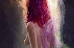 Obraz - Dziewczyna ze skrzydłami, wróżka, elf - płótno