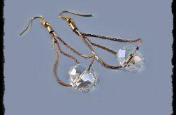 wiszące kolczyki z kryształem