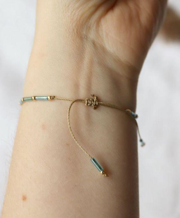 Minimalistyczna bransoletka na nadgarstek - bransoletka sznurkowa