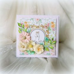 Kartka ślubna w soczystych barwach