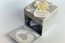 Pudełko ślubne z życzeniami