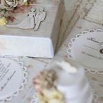 Romantyczny exploding box ślubny z tortem 4